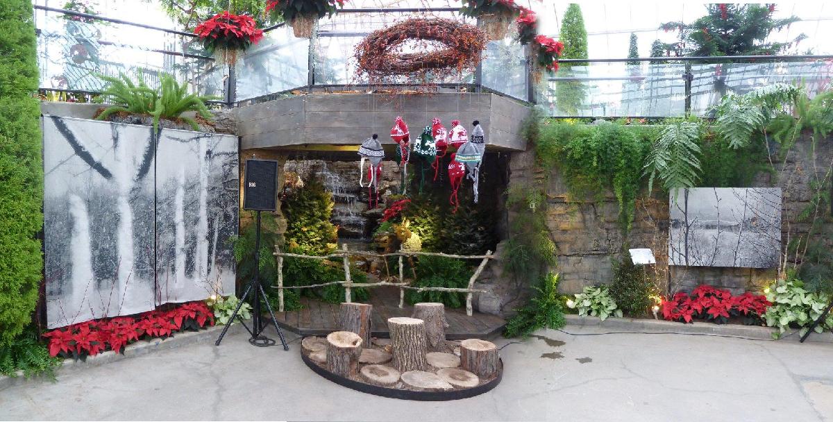 L 39 hiver au jardin botanique louise lemieux b rub for Jardin botanique hiver 2015